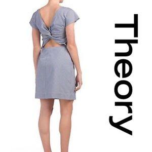 NWT Theory Twist Back Cotton Blend Dress size 6